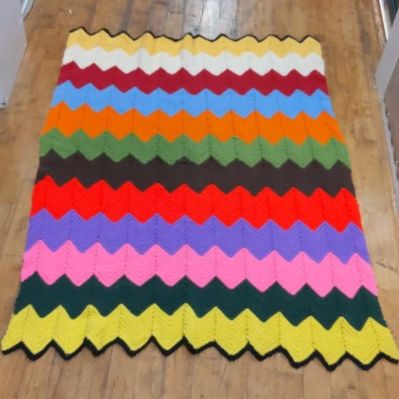 Rainbow toddler quilt handmade